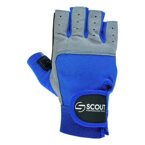 Sailing Gloves Cut Finger Kayak Yachting WaterSki Sports Boating Gloves in Blue & Red for Men Women - Scout Performance Gear