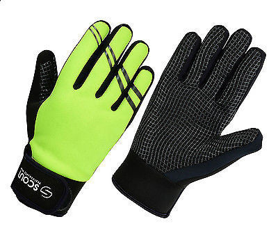 SPG Warm Waterproof Winter Gloves Ski Motorbike Green Unisex - Scout Performance Gear