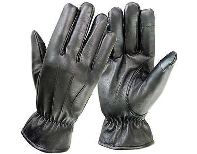 Fashion Men Winter Leather Gloves Full Finger Touch Screen Warm Motorbike Glove - Scout Performance Gear