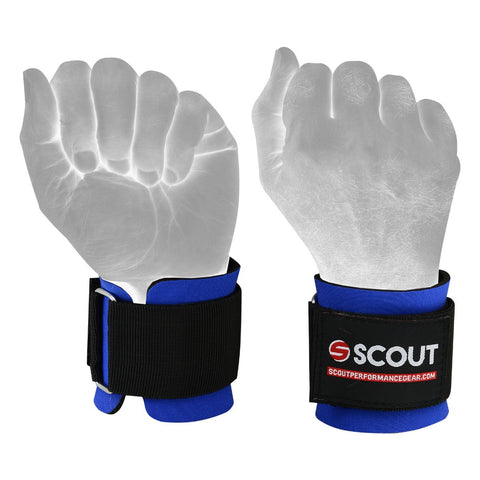 SPG Weight Lifting Neoprene Wrist Support Wraps Gym Workout Blue