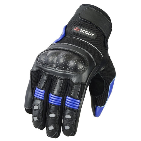 Motocross Gloves Racing Motorbike Riding Leather Armor Bike Gear - Scout Performance Gear