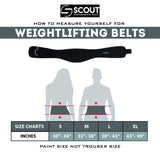 Weight Lifting Gym Training Belt - Back Support Lifting Bodybuilding for Men Women - Scout Performance Gear