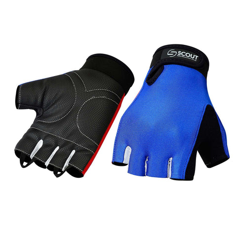 SPG Summer Cycling Gloves Bicycle Sports Glove in Lycra Blue Black Color - Scout Performance Gear
