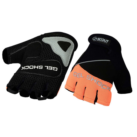 Summer Cycling Gloves Gel Shock Series Orange - Bulk Order Only - Scout Performance Gear