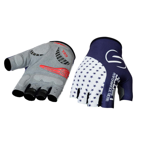SPG Cycling Gloves Bicycle Sports Glove - Star Series Blue - Bulk Only - Scout Performance Gear