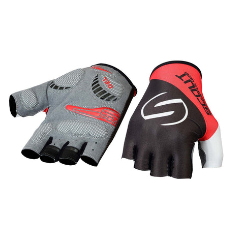 SPG Cycling Gloves Bicycle Sports Glove in Red Black Color - Bulk Only - Scout Performance Gear