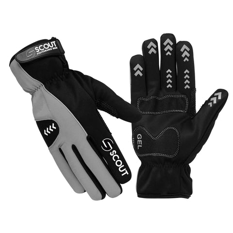 New SPG Cycling Gloves Full Finger Winter Waterproof Black Gray Color - Scout Performance Gear