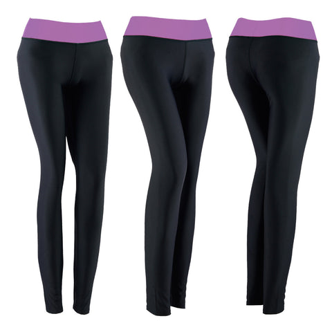 SPG Women YOGA Pants Gym Leggings Stretch Athletic Trousers Purple - Scout Performance Gear