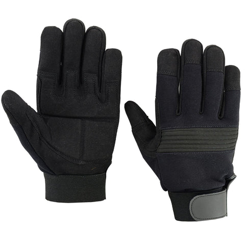 SPG Mechanics Gloves Safety Work Amara Leather Gardening Black Color - Scout Performance Gear