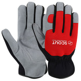 Mechanics Gloves Safety Work Synthetic Leather Glove Wears Grip