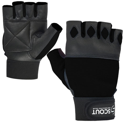 New SPG Men Weight Lifting Gloves for Cross-fit Gym Workout Black - Scout Performance Gear