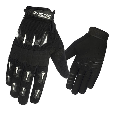 SPG Motocross Racing Gloves Dirt Bike Riders MX Glove in Black - Bulk Only - Scout Performance Gear