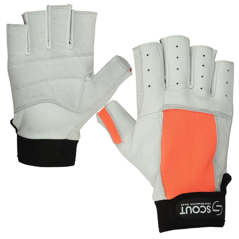 New Sailing Gloves Kayak Yachting WaterSki Sports Boating White Orange - Bulk Only - Scout Performance Gear