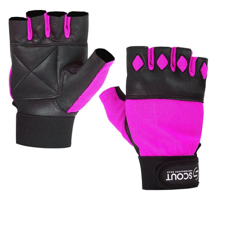 New SPG Women Weight Lifting Gloves for Cross-fit Gym Workout Pink