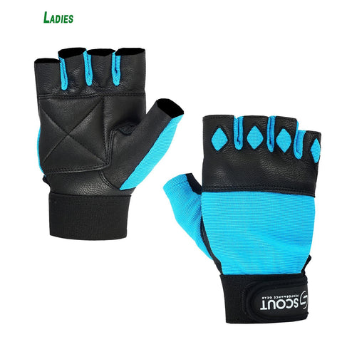 New SPG Women Weight Lifting Gloves for Cross-fit Gym Workout Sky Blue - Scout Performance Gear