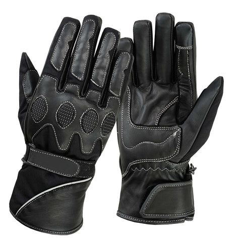 SPG Winter Gloves Men Full Finger Bike Leather Touch Screen Glove - Scout Performance Gear