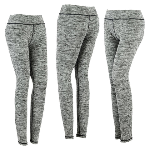 New SPG Women YOGA Pants Gym Leggings Stretch Athletic Trousers Gray - Scout Performance Gear