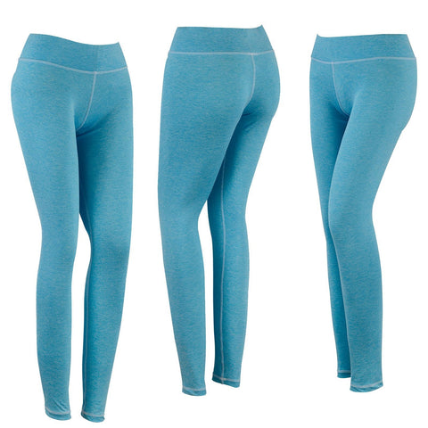 New SPG Women YOGA Pants Gym Leggings Stretch Athletic Trousers Sky Blue