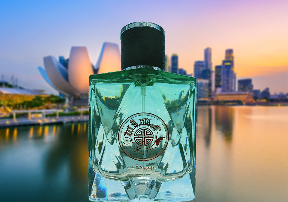 Singapore Orchid Perfume Collections : Singapore Memories , One Degree North is best Gift for Overseas Friend, 1° North, 1 ° North, One ° North