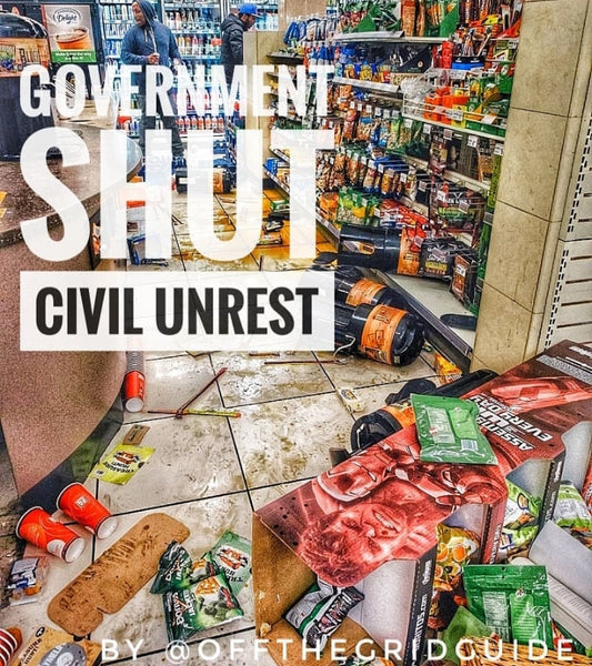 How the government shutdown could affect us in the coming weeks, possible SHTF?