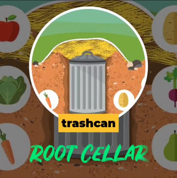 Trash Can Root Cellar - a prepping idea for self sufficiency