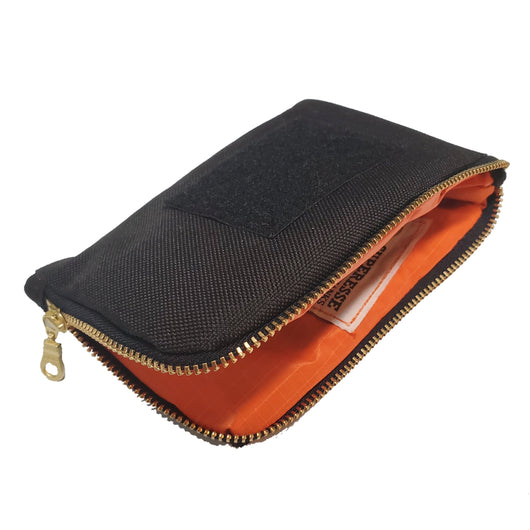 Pocket Pouch Canvas - Curved Zipper Bag for EDC essentials and supplies.