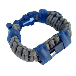 Bug Out Bracelet - Paracord Bracelet, Survive Offgrid with 30 item last ditch effort kit.