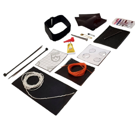 Field Repair Patch Kit - Fix broken items, stitch torn bags, parch tent rips, and seal holes.