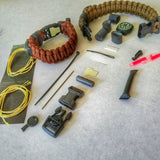 The Escape Evade Pathfinder: Military & Tactical Strap w/ SERE kit, Compass, Kevlar Saw, Cuff Key.