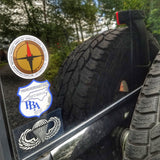 Superesse Logo Decals - Weather resistant sticker supporting our USA Small Shop