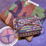 Paracord Survival Wallet - Cordage Wrapped Aluminium Frame, Covert Supply Pocket in Morale Patch.