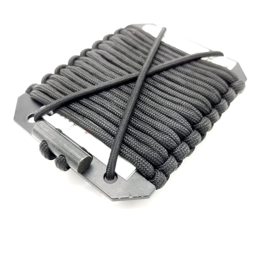 Firestarter Survival Wallet - Tinder filled Paracord, Ferro, Aluminium Frame, Morale Patch ready.