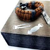 Task Strap - Multitool Paracord Bracelet with easy access steel EDC Tool Sets and Survival Equipment.