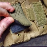 Subdued Storage Pocket Patch: A coverable two layer Velcro patch with hook and loop sides.