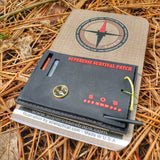 Superesse Field Memo Pad - Durable Pocket Notebook with Survival References