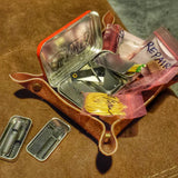EDC Pocket Tin - Emergency Metal Can, Kydex Sheath, with Survival & Tactical Kits.
