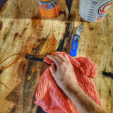 Canister Napkins: Cotton Shop Rag Cloths with sealable EDC Waterproof Tube.