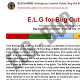 Emergency Loadout Guide - Bug Out Bag (BOB)