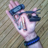 Urban Carry Strap - EDC Bracelet Titanium Pry Bar, Firestarter, Bottle Opener, Kevlar Saw, Cuff Key.