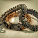 Scout Slimline: Minimalist's Paracord Bracelet for Survival Essentials - Fire, Water, Food, Shelter.
