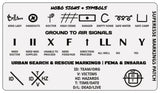 Markings and Signals Decal - Hobo Symbols, Ground to Air Signals, Search and Rescue Markings