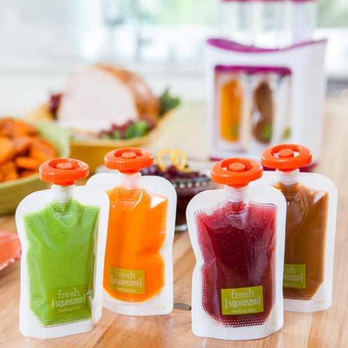 Squeeze Station Refill Pouches & Pouch Spoons