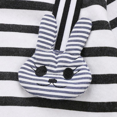 Delicate Striped Bunny Sets + Hat
