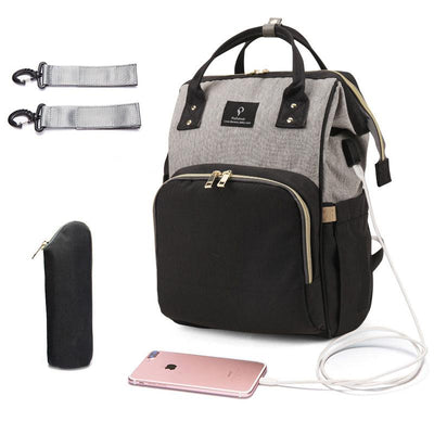 Limited Edition USB Charger Diaper Bag