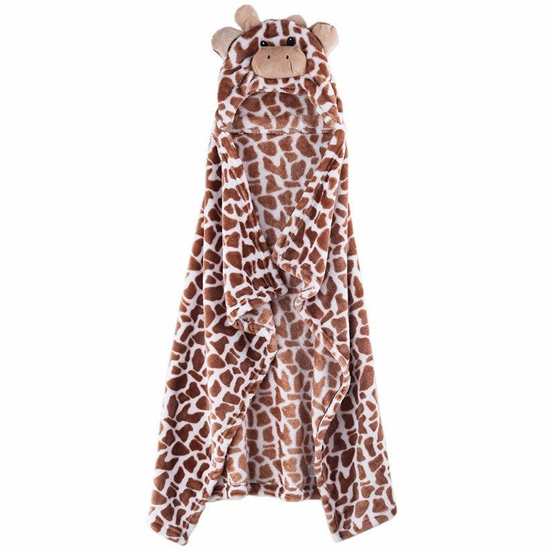 Soft Bath Towel | Hooded Giraffe Bathrobe