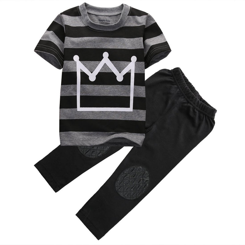 Little King | Cute Striped Outfit