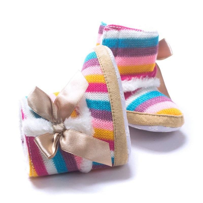 Colorful Striped Booties
