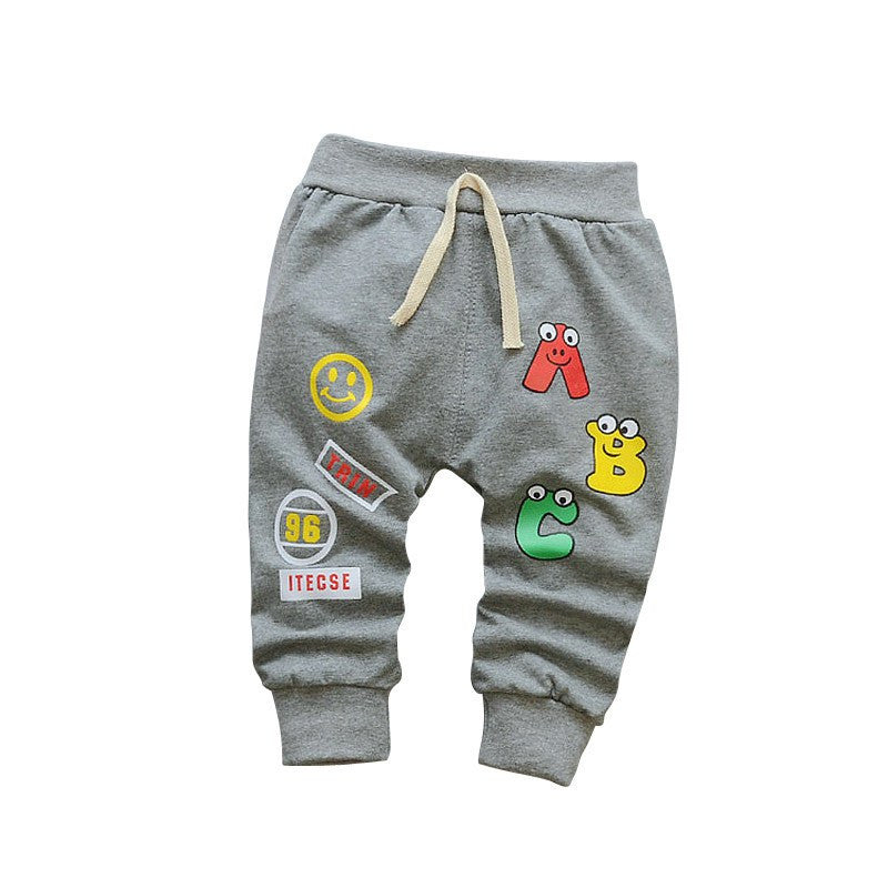 Cute Alphabet Printed Pants