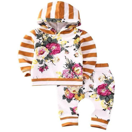 Cute & Warm Floral Hooded Outfit