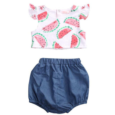 Adorable Watermelon Top & Bloomers